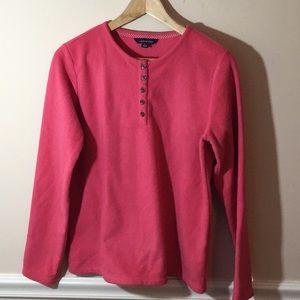 Lands End Pink Fleece Sweatshirt Small